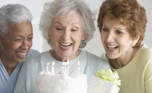 Women Celebrating Birthday --- Image by © Royalty-Free/Corbis
